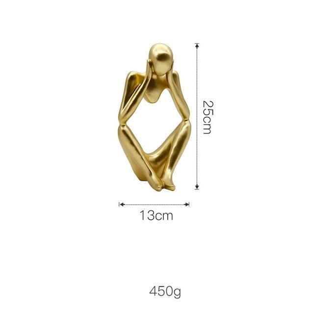 Product Details European Style Abstract Thinker Sculpture, Golden Decoration, Creative Home Ornament. Made of Resin Stylish Home Decoration