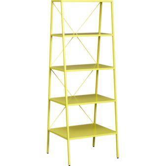 hancock chartreuse bookcase / CB2 #bookshelf #office