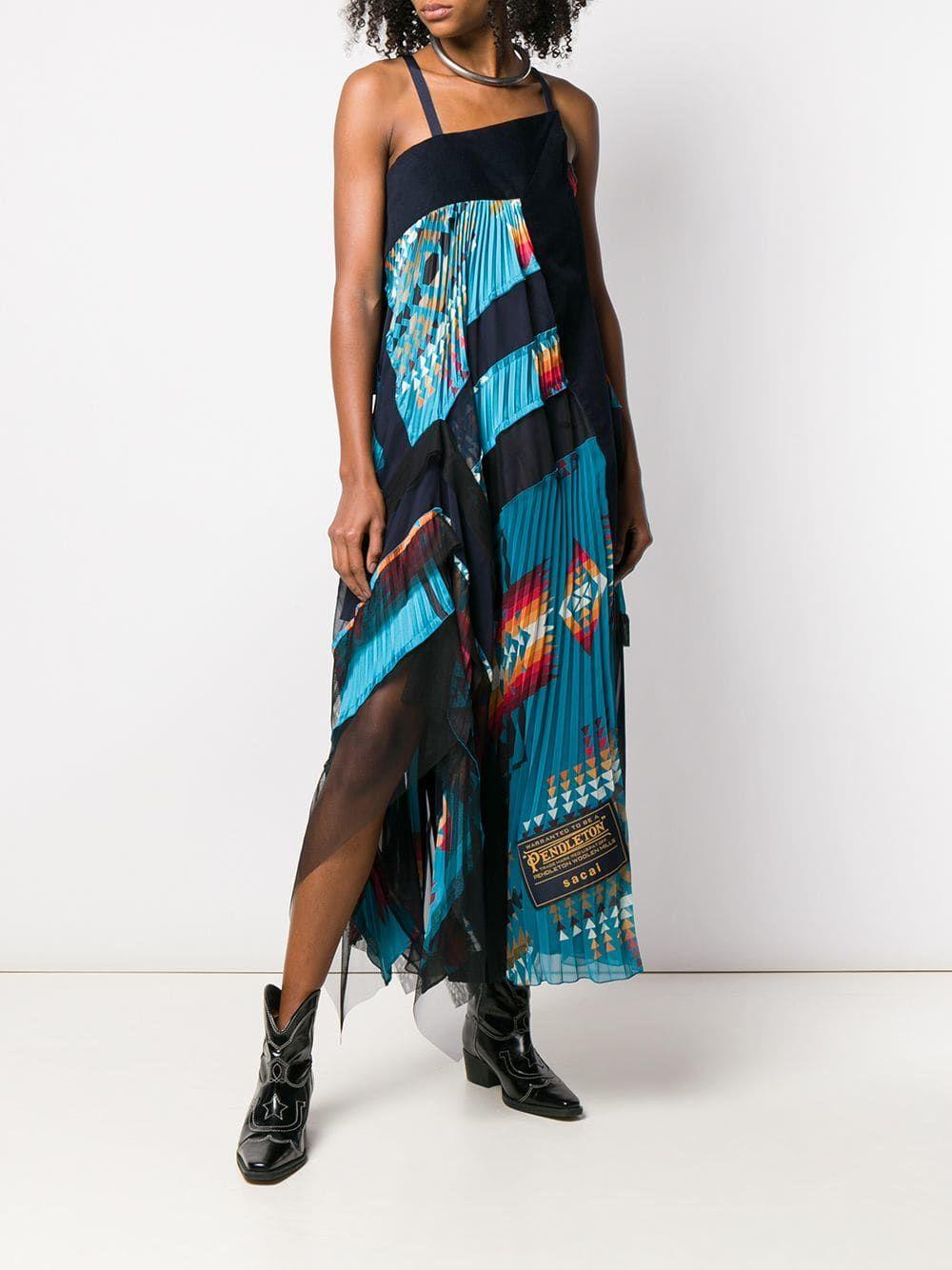 48b15e3302f Sacai Southwest-inspired Dress - Farfetch