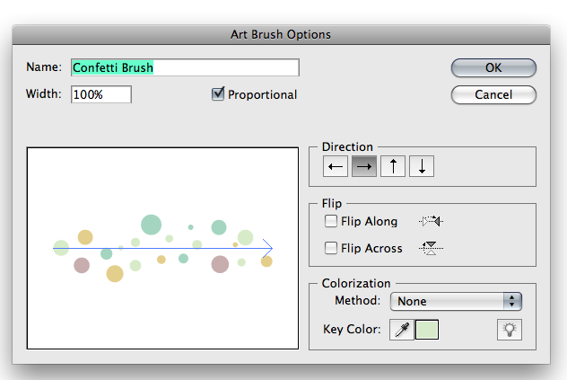 Simple tutorial for creating a confetti brush in Illustrator (similar for photoshop)