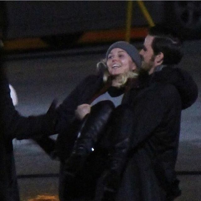 Colin O'Donoghue -Killian Jones - Captain Hook and Co Star Jennifer Morrison - Emma Swan on Once Upon A Time #CAPTAINSWAN