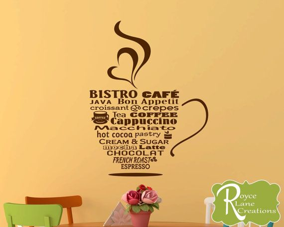 Bistro Cafe Bistro Sign Coffee Word Art by RoyceLaneCreations