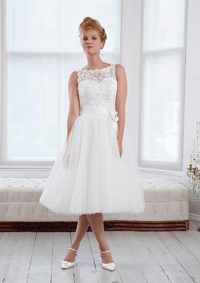 Vintage Tea-Length Wedding Dresses 5 (2)   wedding dresses ...