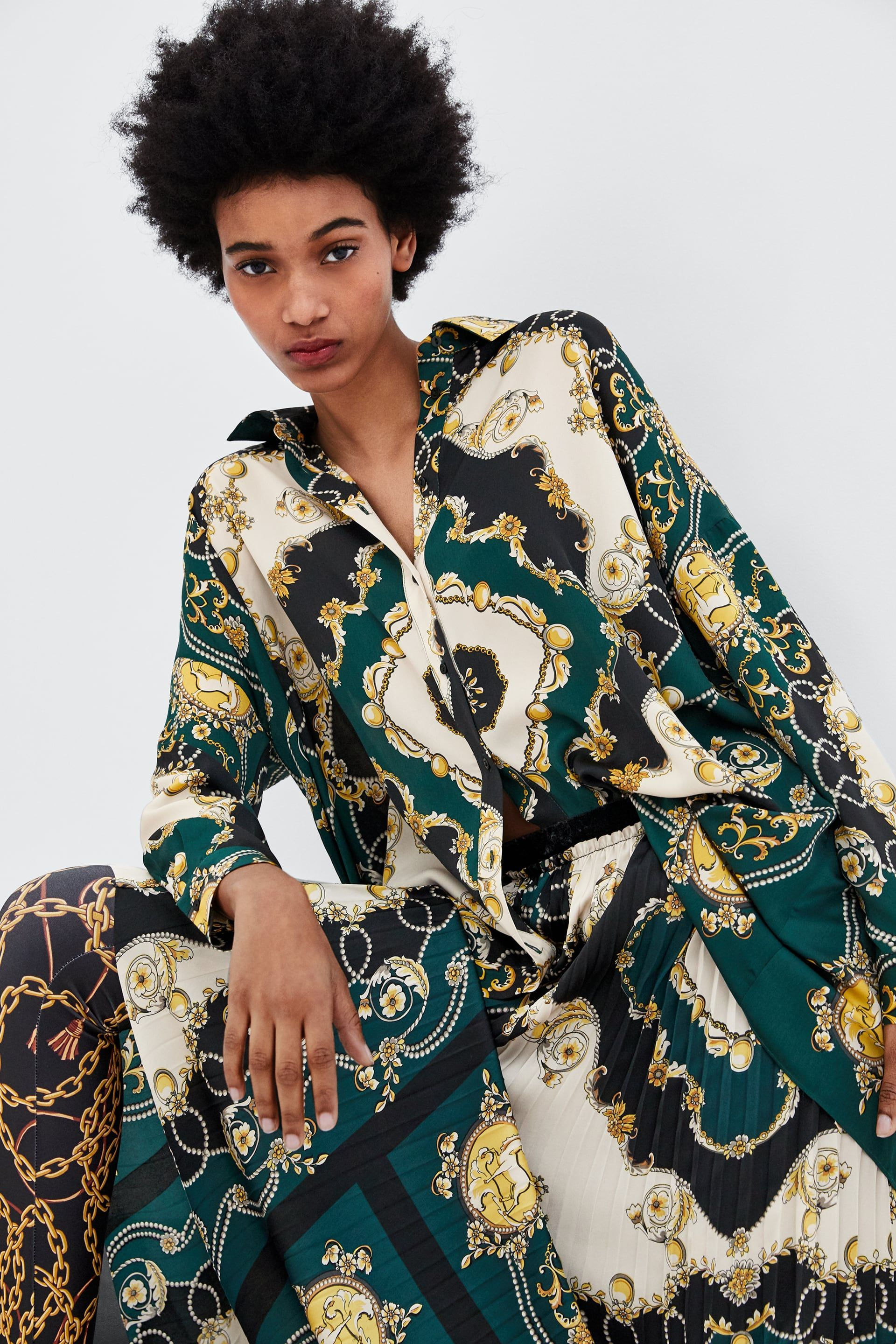 44922cbcb00f Chain print shirt in 2019 | 模特 | Printed shirts, Fashion, Versace ...