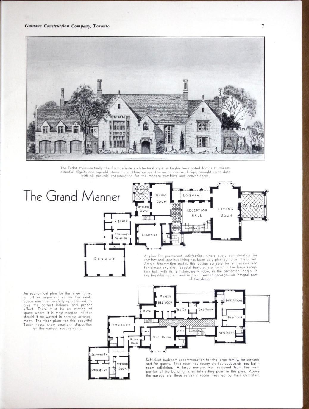 Planning Building Financing The Home Vintage House Plans Mansion Floor Plan House Plans