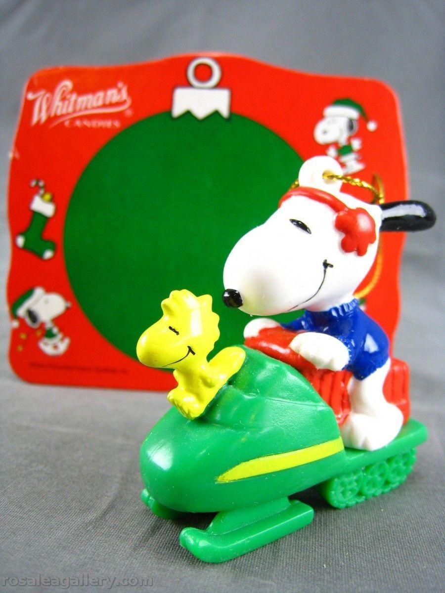 Vintage Whitman's Snoopy Snowmobile Ornament W/Box   eBay