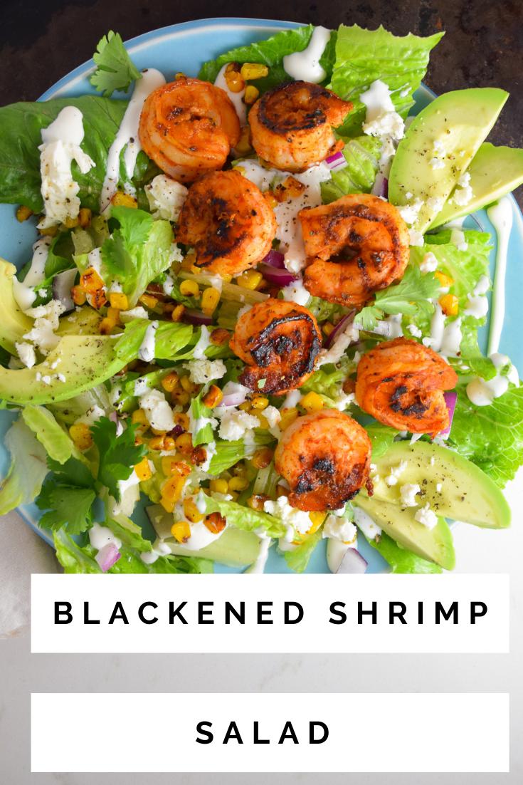 Blackened Shrimp Salad With Corn And Avocado Natalie Paramore Recipe In 2020 Whole Food Recipes Shrimp Salad Favorite Recipes Dinner