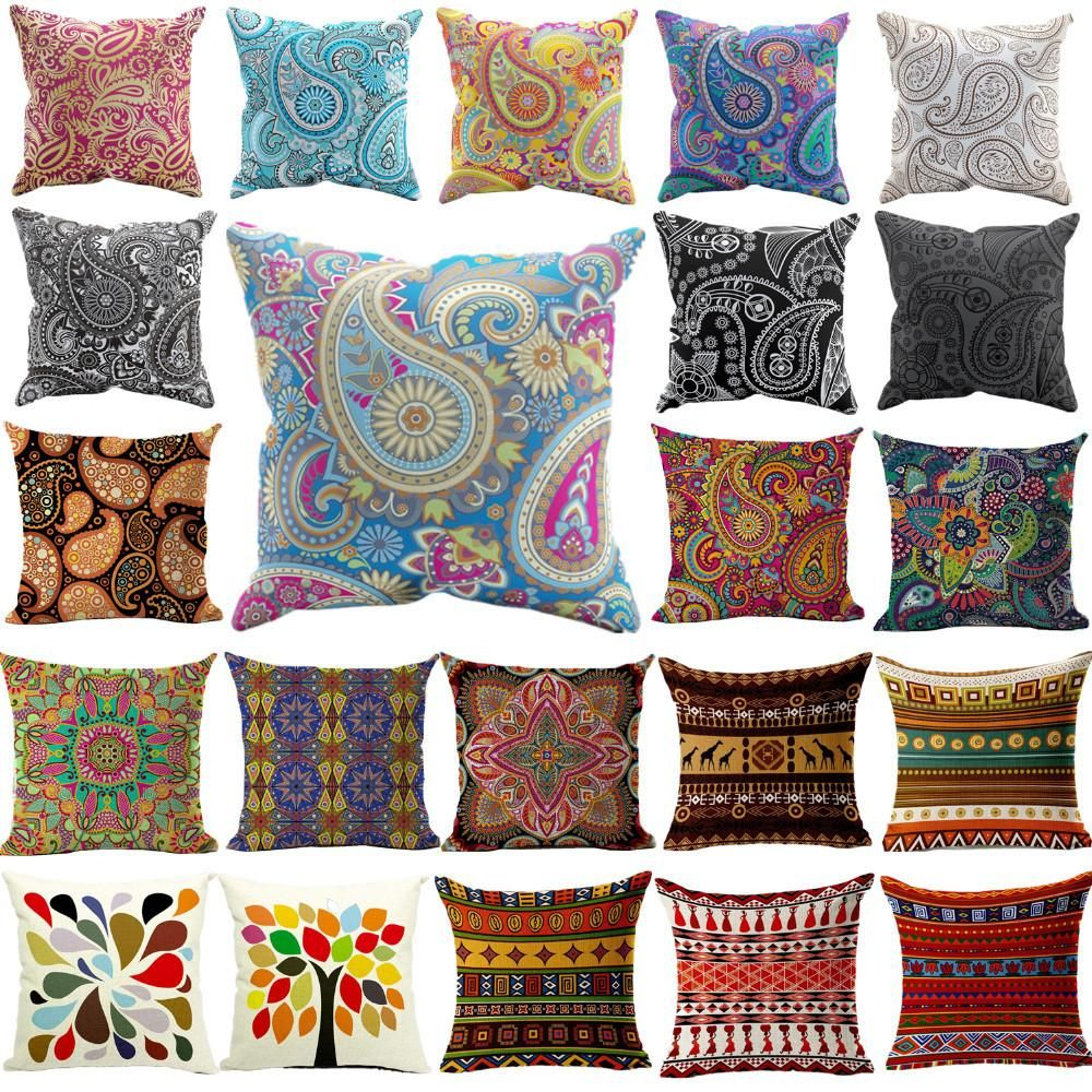 Rhapsody geometric woven pillow cover colors in products