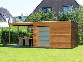 BOX T, 3,0 x 2,0m Haus + 2,0 x 2,0m Terrasse, Gartenhaus