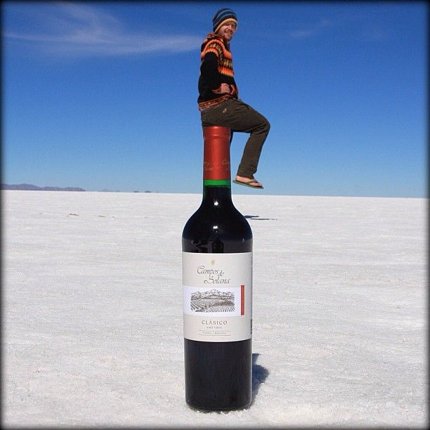 The vast salt flats of Salar de Uyuni, Bolivia offer the perfect backdrop for photographs that fool the eye