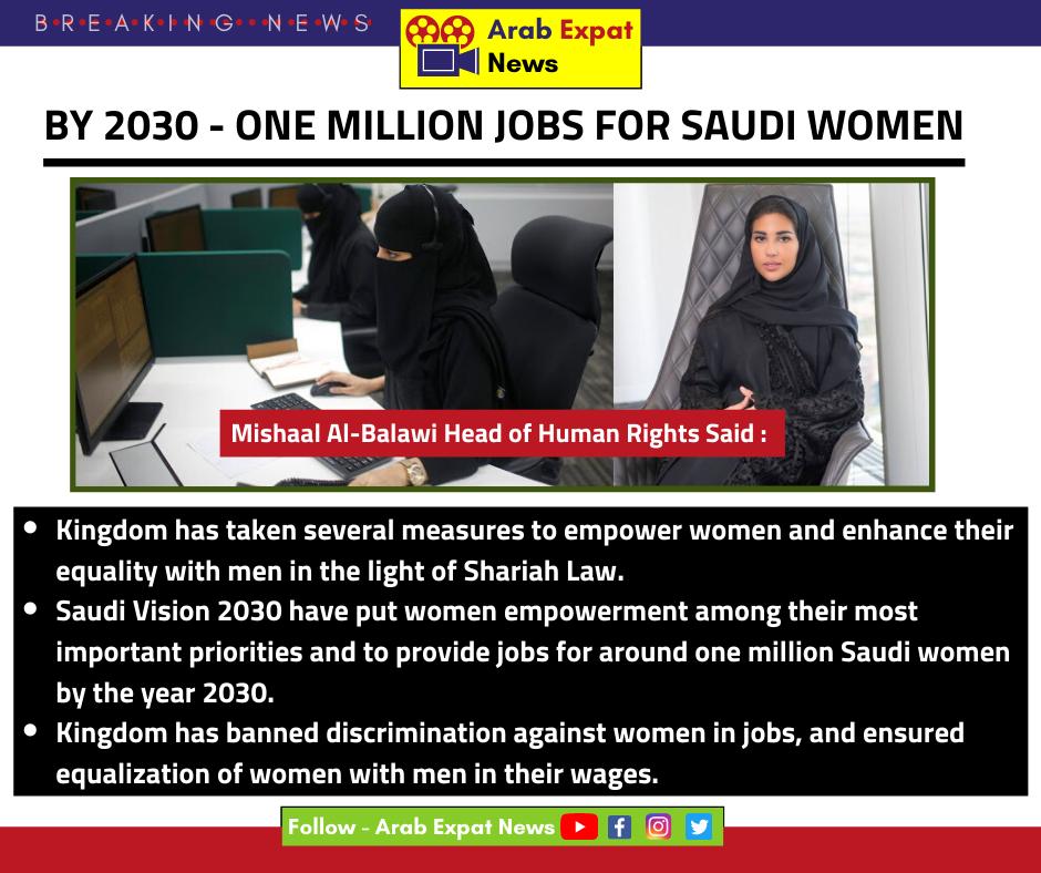 1 Million Jobs For Saudi Women One In A Million Women Empowerment Women