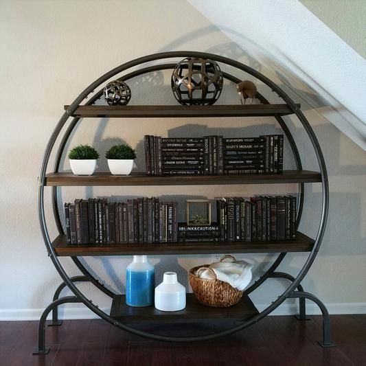 Round Bookcase Round Bookshelf Interior Design Living Room