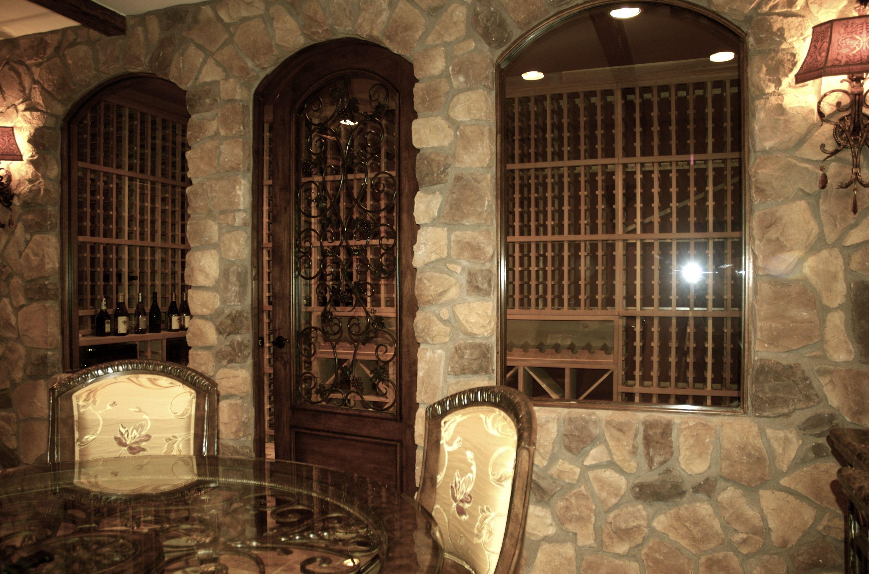 Wine cellar designed rich in texture wine cellars pinterest