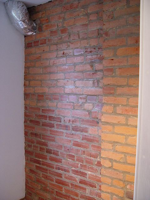 Finishing Exposed Brick Old Town Home Craftsman