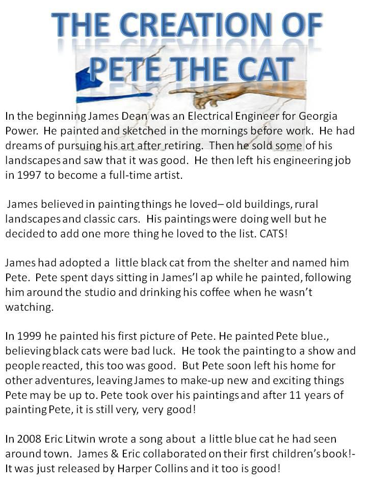 The Creation of Pete the Cat | Pete the Cat | Pinterest