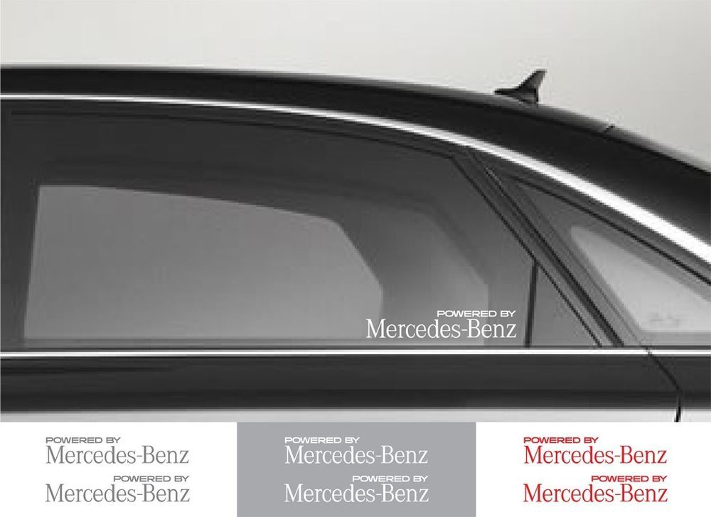 2pcs Powered By Mercedes Benz Window Vinyl Decal Sticker Emblem Logo Graphic Oracal Car Decals Vinyl Vinyl Decals Window Vinyl