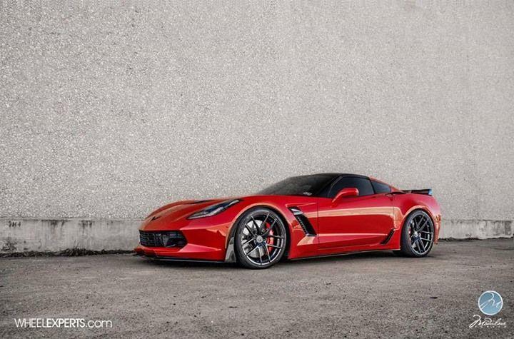 C7 Corvette Z06 With 375 Rear Tires Redline360 Corvette Corvette Z06 Chevy Corvette