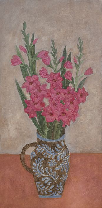gladiolus in a pitcher, Soojung Cho
