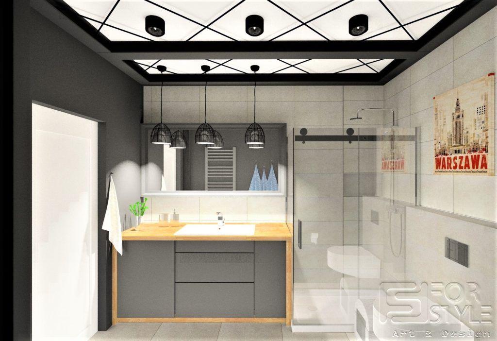 łazienka Industrialna W Stylu Industrialnym Nowoczesna