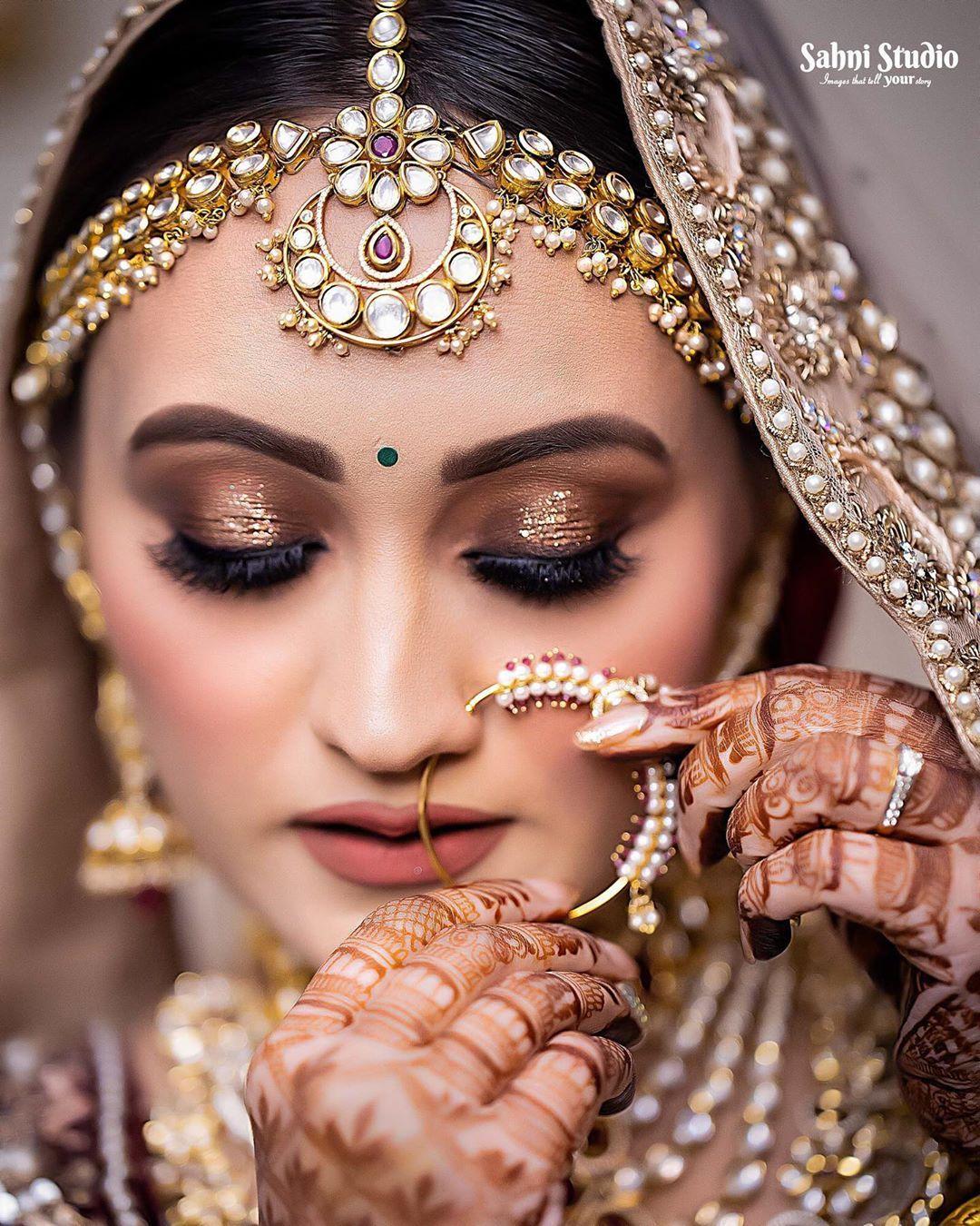 Bridal Makeup Look Makeup Look For Indian Brides Bridal Inspiration In 2020 Bridal Makeup Looks Bridal Makeup Best Bridal Makeup