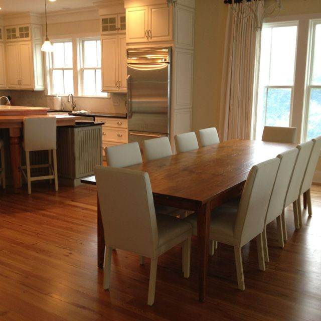 Just Delivers This 10ft Hepplewhite Farm Table I Made From 200 Year Old Heart Pine To