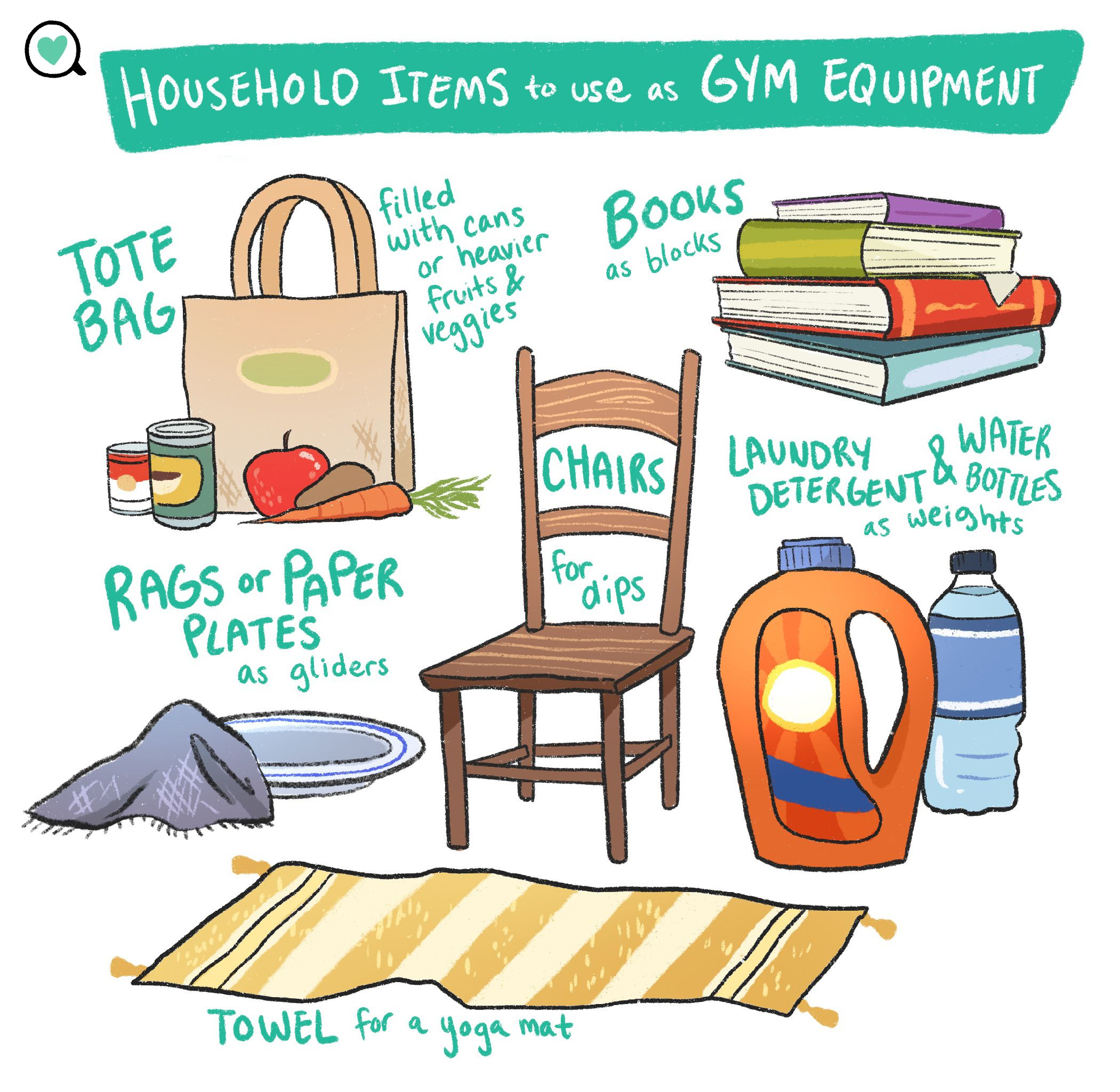 Household Items To Use As Gym Equipment In