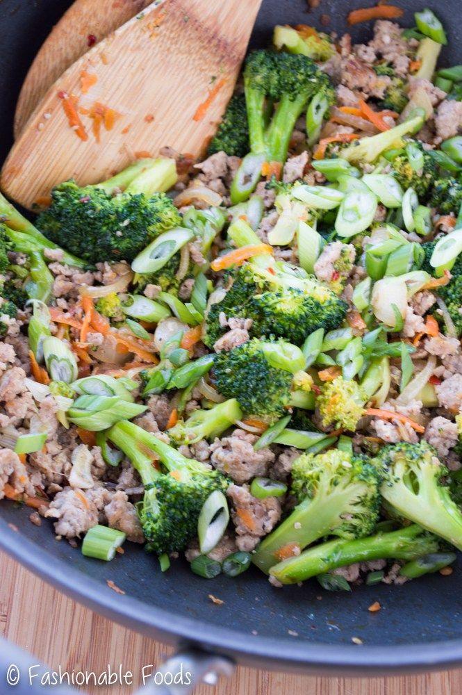 Ground Turkey \u0026 Broccoli Stir,Fry