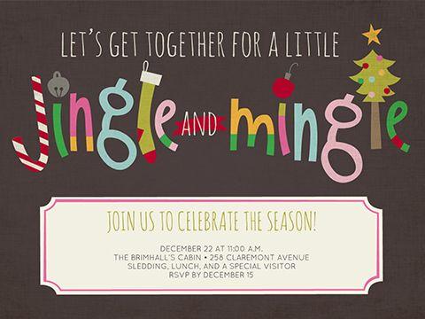 Jingle And Mingle Christmas Invitations Template Christmas Party Invitations Printable Christmas Party Invitations Free