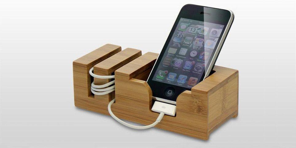 Phone Holder Iphone Stand Wooden Organizers Pinterest