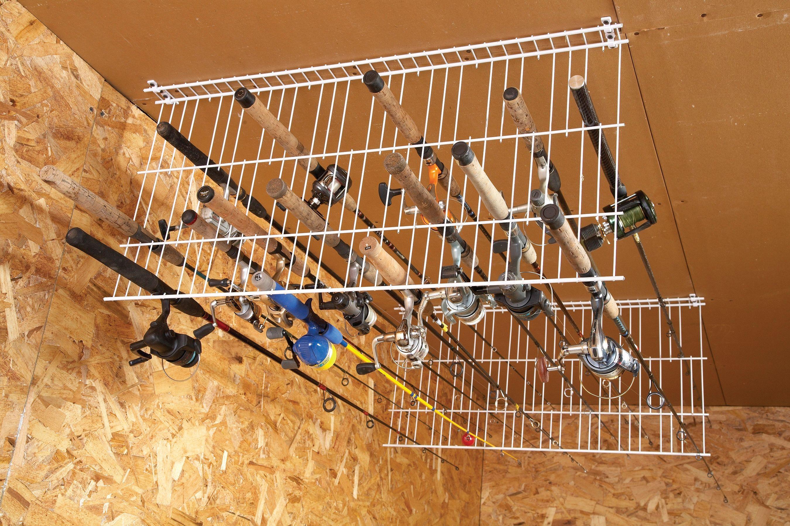 Budget your move diy garage storage fishing rod storage