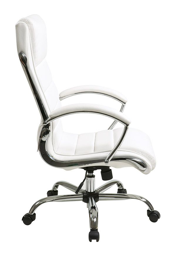 Bassett Ellis Executive Chair School Desk Inspired By Chrome In White Product No Bp Elcx U11