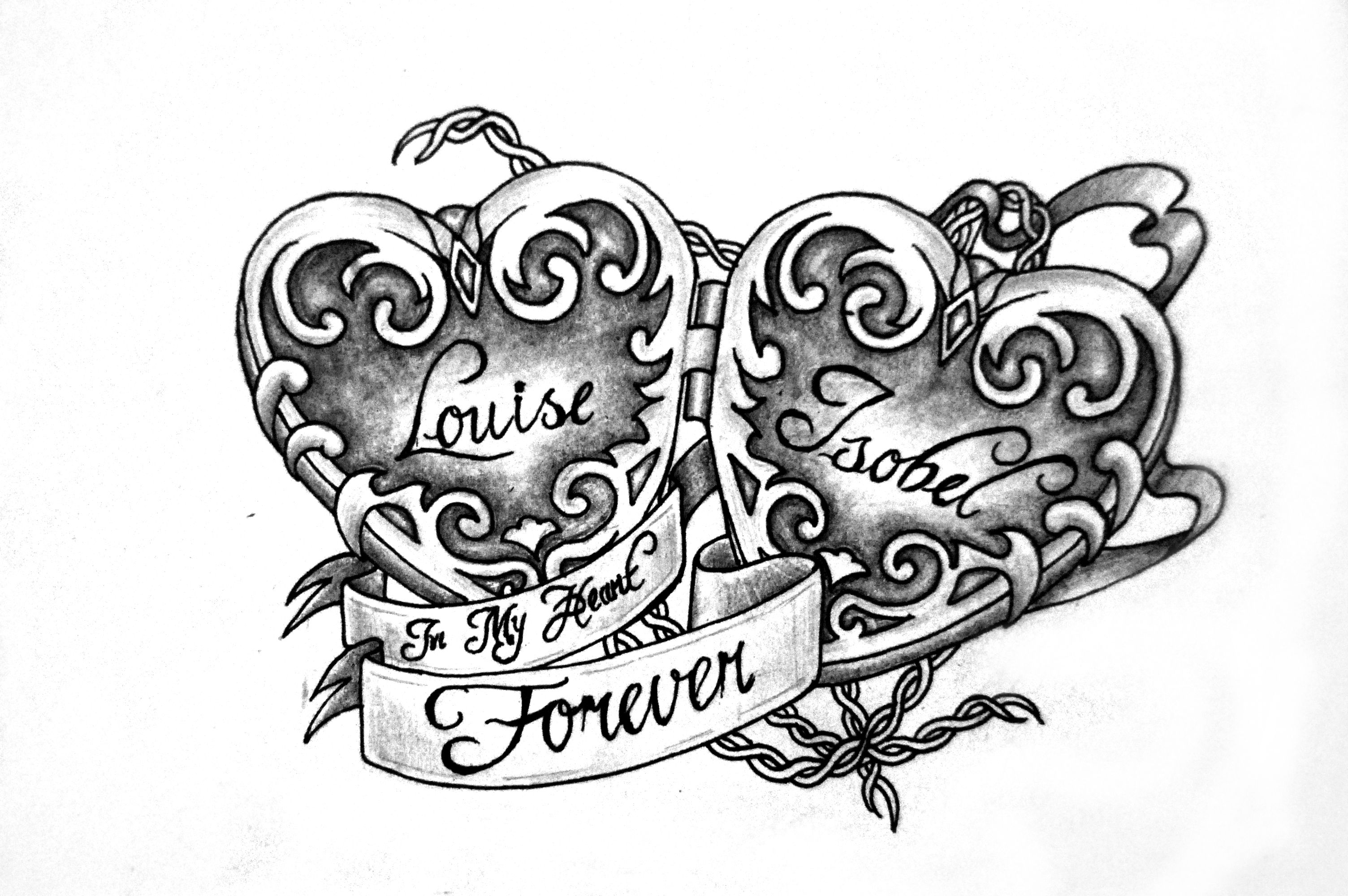 Pics photos heart lock flowers n key tattoo design - Heart Locket Tattoo Design By Charlotte Lucyy On Deviantart I Want This With My Grandparents Names In It