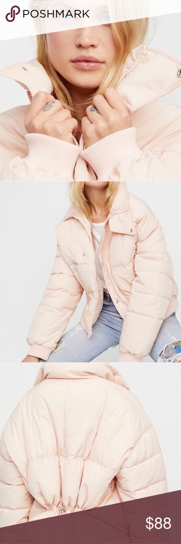 Free People Cold Rush Puffer Coat Baby Pink Jacket Pink Jacket Puffer Coat Jackets [ 1740 x 580 Pixel ]