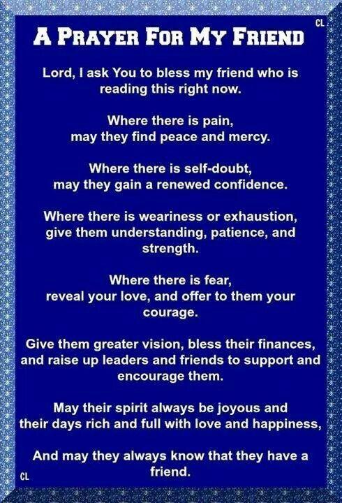 A Prayer For My Friend | Prayers | Prayer for friendship, Prayer