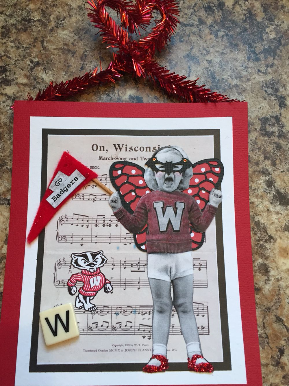My first attempt at altered photos. I made this for the biggest Wisconsin Badger fan I know.