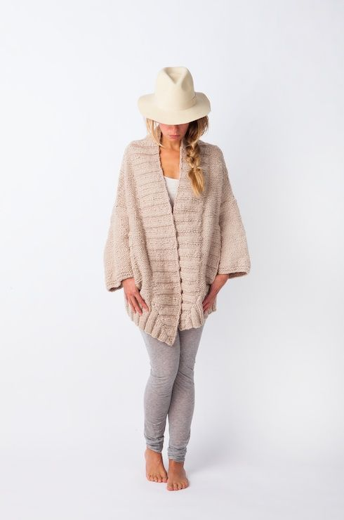 Jade Sand great cardigan in a lux comfy style, seen in Amsterdam