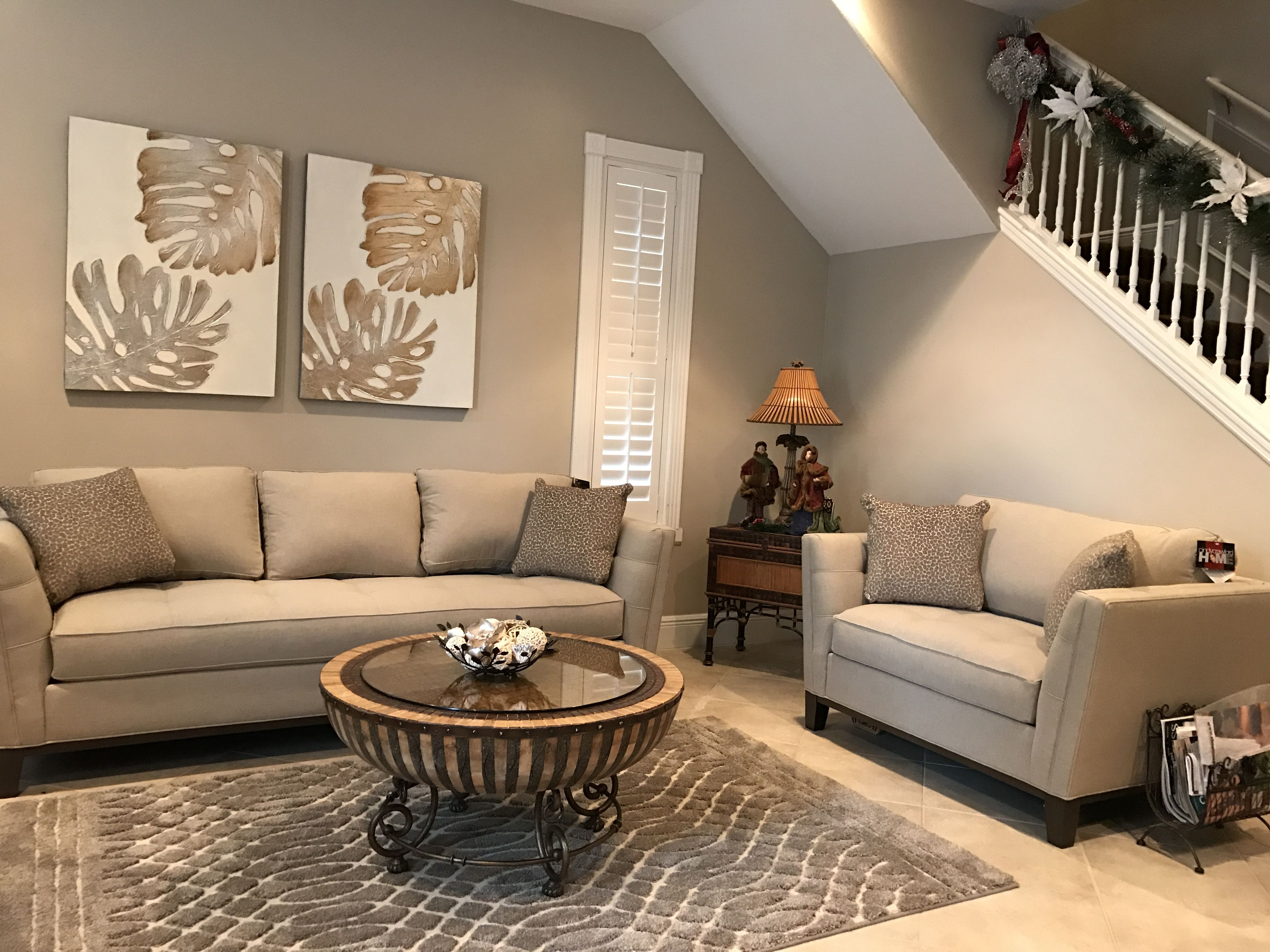 After With Cindy Crawford Sofa And Chair New Rug Canvas Art