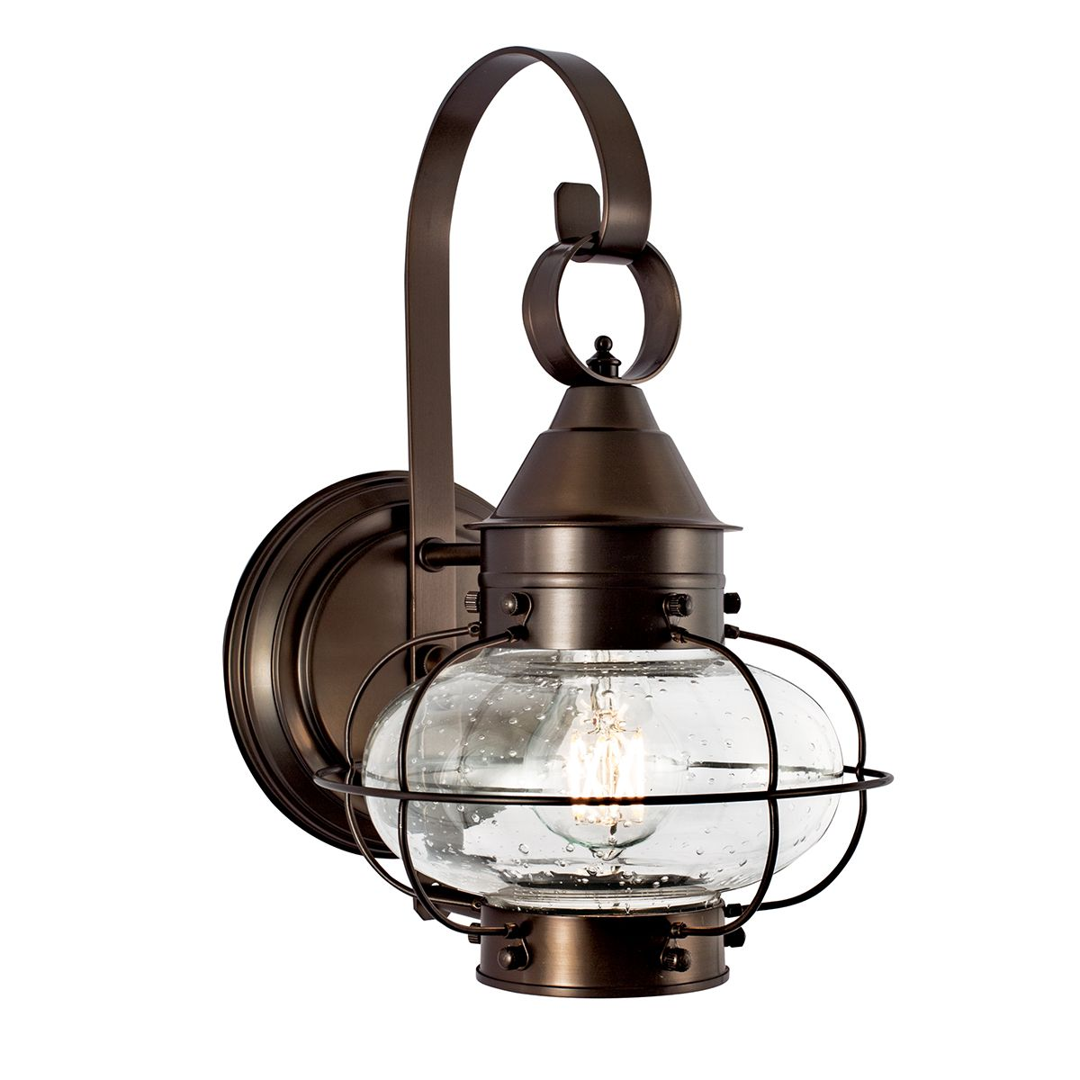 Norwell Lighting Cottage Onion Small Wall Sconce 1323 Br Se