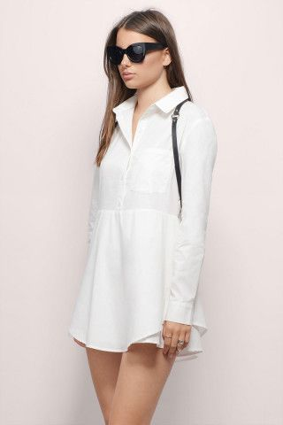 Loving this flirty shirtdress redux