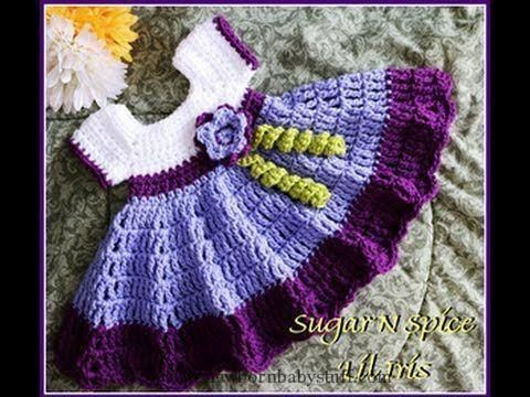 Crochet Baby Dress Crochet Baby Dress Child Gown Sugar N Spice Crochet Child Go...