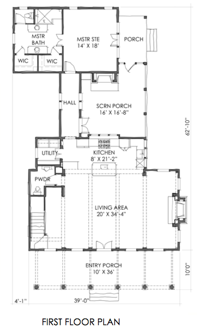 House Plan Small Cottage Plan Tnh Sc 17b By Moser Design Group Small Cottage Plans Cottage Plan Cottage Floor Plans