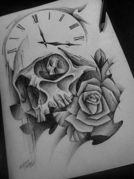 33 Of The Most Designed Clock Tattoos Koees Blog Owl Skull Tattoos Hand Tattoos For Guys Feminine Skull Tattoos