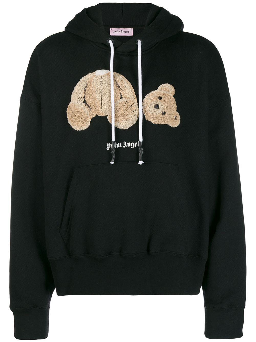 Palm Angels Teddy Bear Hooded Sweatshirt Black Hooded Sweatshirts Angel Teddy Black Sweatshirts [ 1334 x 1000 Pixel ]