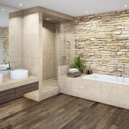 Einbaudusche aus Stein Badezimmer beispiele