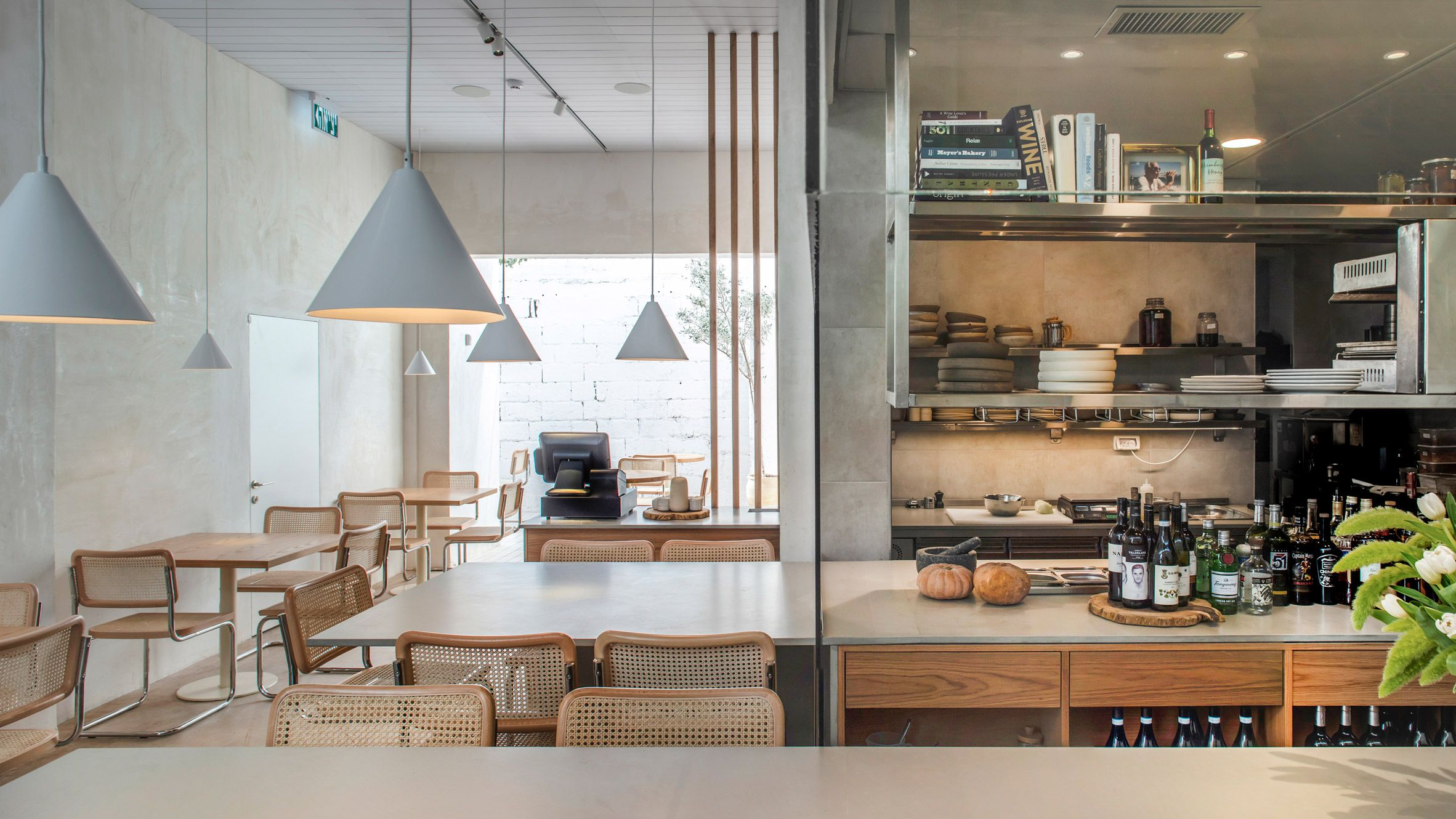 A Glass Enclosed Kitchen At The Entrance To This Tel Aviv