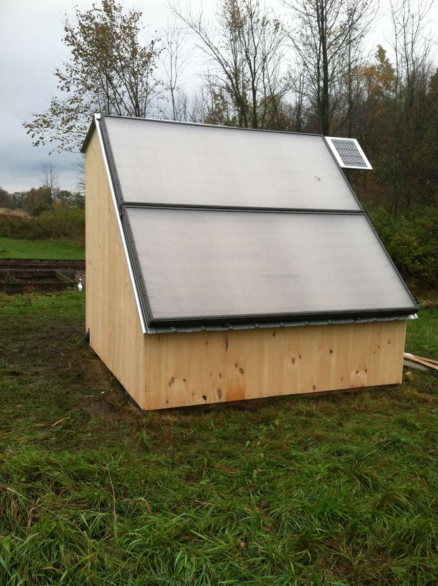 Idea for a solar shed, water heater/battery storage    ALTERNATIVE