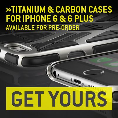 The Ultimate Titanium & Carbon Cases for iPhone 6 & 6 Plus, Now ...