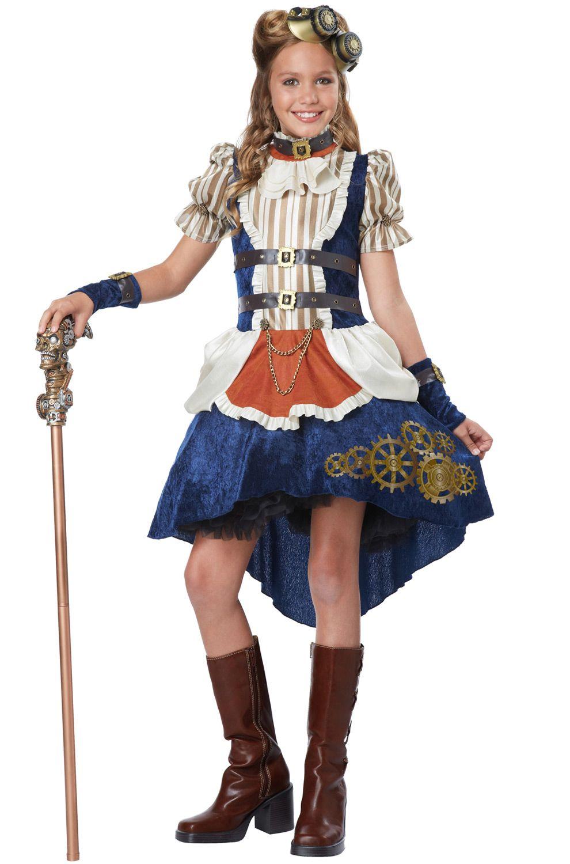 Victorian Steampunk Fashion Girl Tween Girls Costume