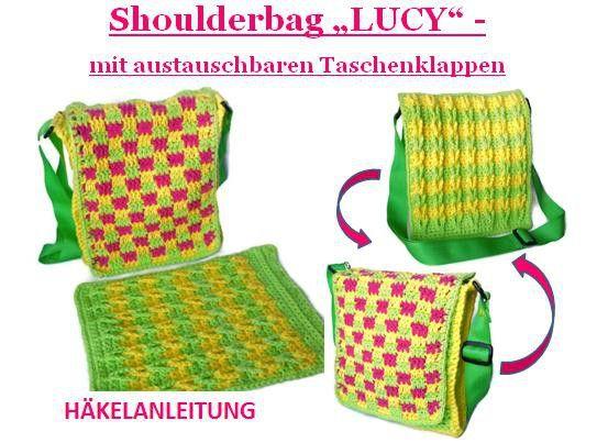 """Anleitung Shoulderbag """"LUCY"""" mit austauschbaren Wechselklappen"""