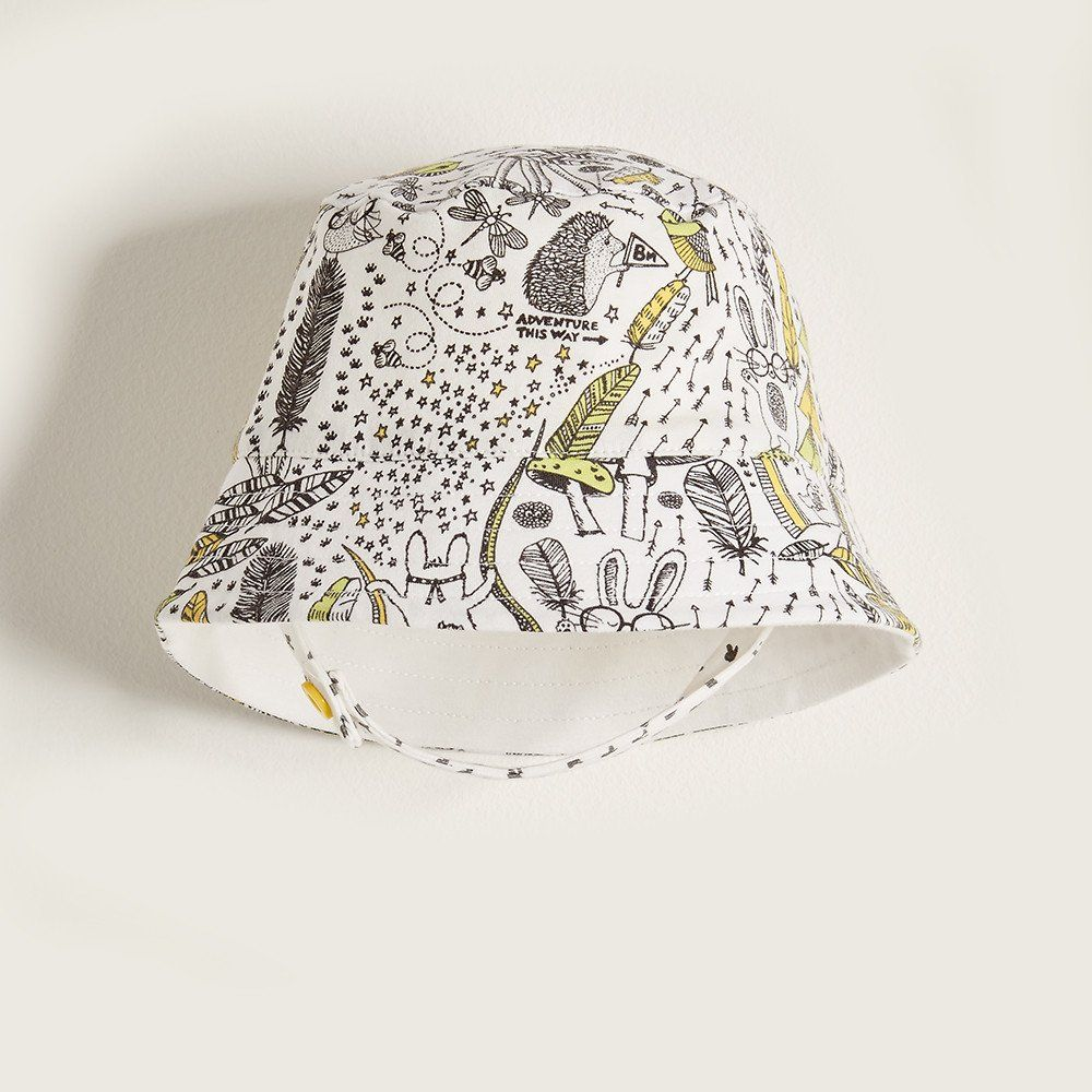 BEATS Organic Cotton Unisex Baby Sunhat - Yellow| Repinned by www.thebonniemob.com : British designed unisex baby and kids fashion clothing brand for stylish little ones. The bonnie mob ship worldwide from the UK.